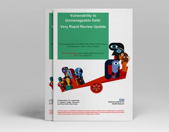 """an info booklet titled """"Vulnerability to Unmanagable Debt"""""""