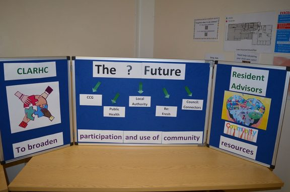 a display in the community centre