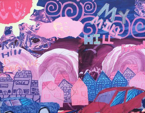 an art piece of Mill Hill