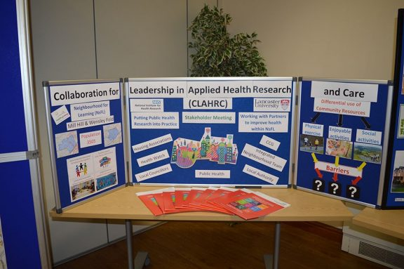 a display in the community centre showing the groups involved in leadership