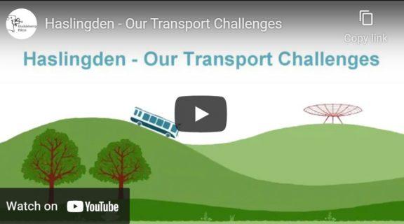 a screenshot of a youtube video regarding transport challenges facing Haslingden