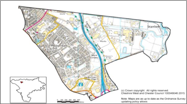 Map of Ellesmere Port Cheshire