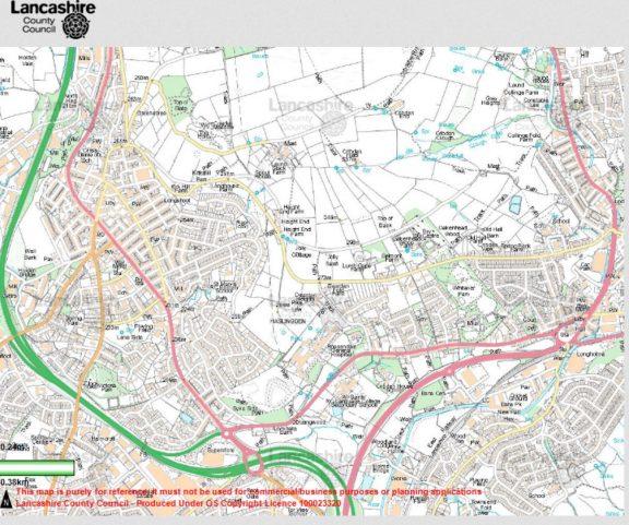 Map Haslingden Lancashire