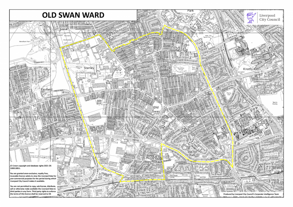 Map of Old Swan Liverpool