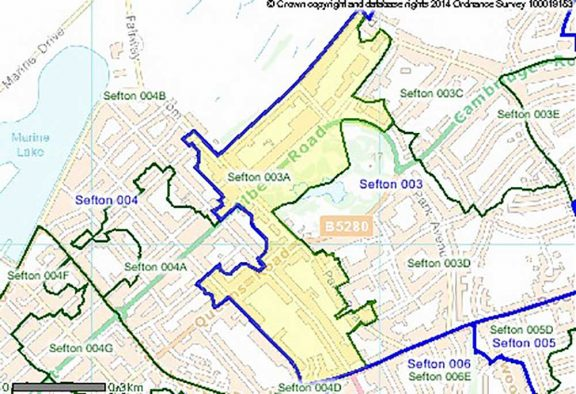 Map of Sefton
