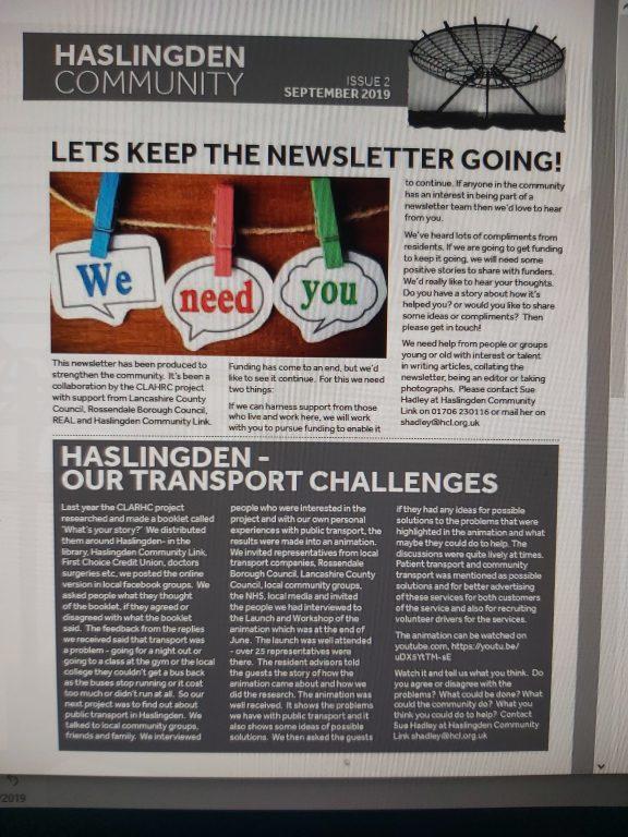 Haslingden Newsletter