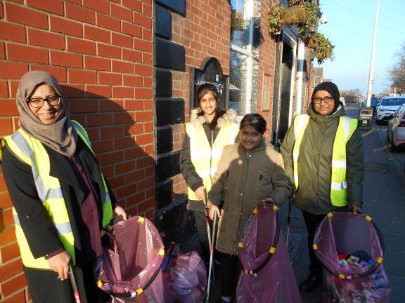 Community clean up in Preston